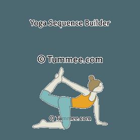 tiger pose variation 1 yoga vyaghrasana variation 1
