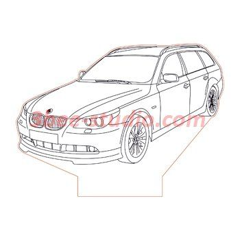 BMW M5 3d illusion lamp plan vector file