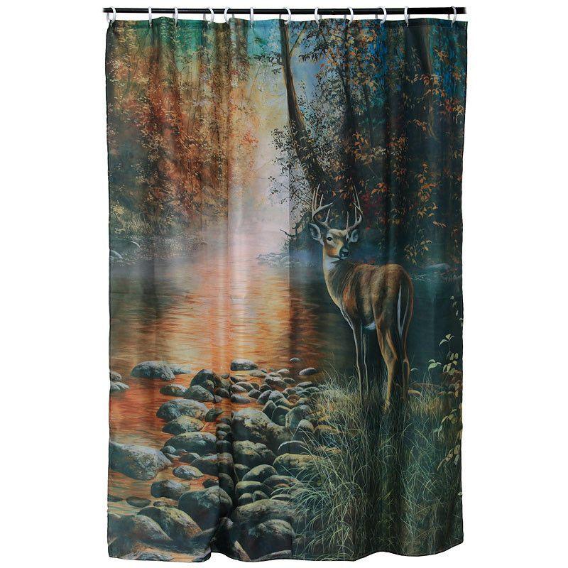 Beside The Still Waters Deer Shower Curtain