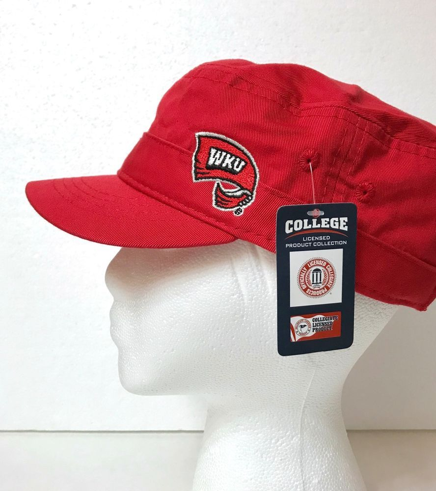 e576db03 Womens WKU TOPPERS CADET HAT Ladies Military Short-brim Hilltoppers ...