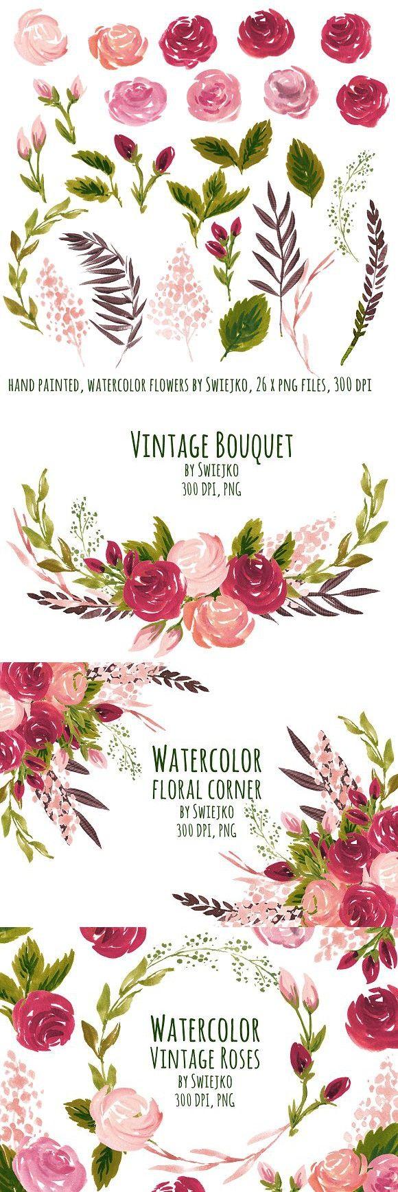 Wedding decorations vintage october 2018 Vintage Roses  Garden Graphic Design in   Pinterest  Vintage