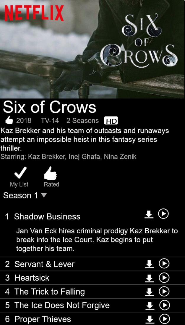 If Six Of Crows Was A Netflix Series 3 Sixofcrows Nomournersnofunerals Six Of Crows Crow The Grisha Trilogy