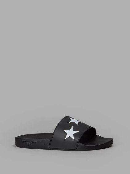 f21722ce879d GIVENCHY GIVENCHY MEN S BLACK STARS SLIDES.  givenchy  shoes  sandals