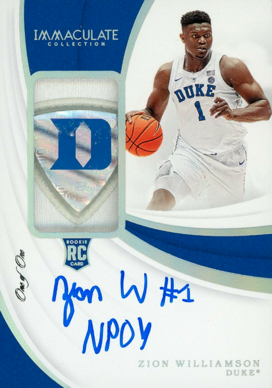 Zion Williamson Card Hot List Most Popular Rookies Valuable Autographs Cards Basketball Cards Williamson