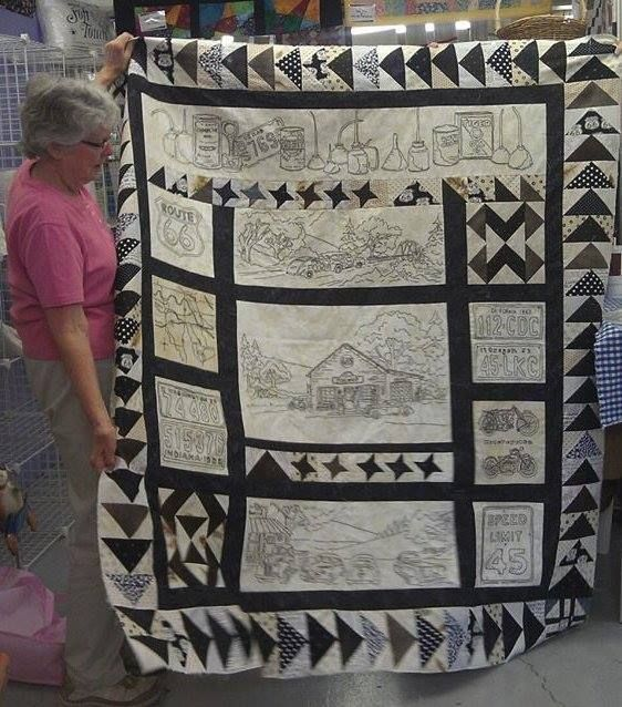 Judy finished her Route 66 quilt top. Pattern is by Crabapple Hill ... : route 66 quilt pattern - Adamdwight.com