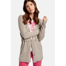 Photo of Gerry Weber Cardigan mit Krawattengürtel Light Taupe-Melange Women Gerry Weber