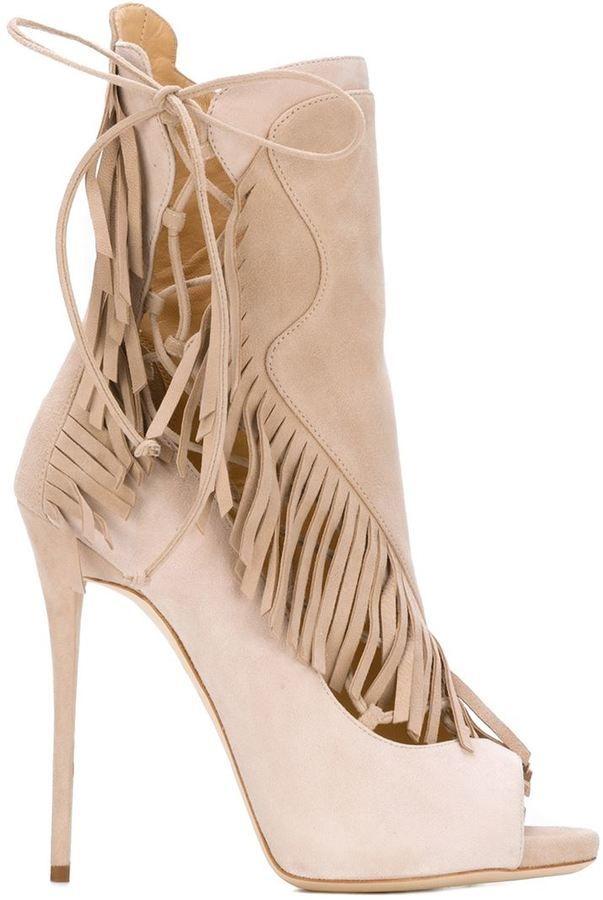 By Giuseppe Zanotti Design - fringed booties: SALE