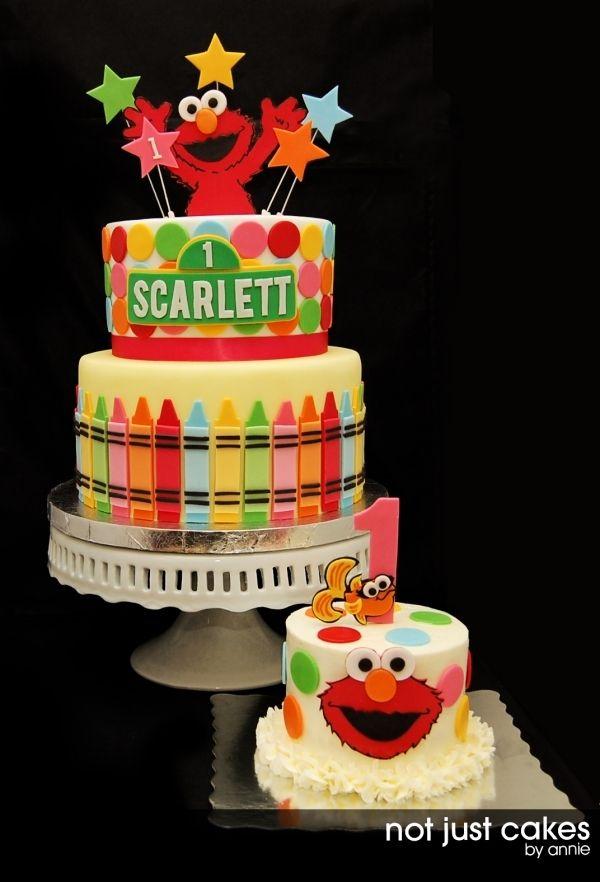 Elmo First Birthday Cake Cake Ideas Pinterest Elmo Birthday