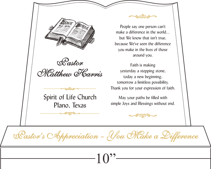 A perfect gift for Pastor Appreciation Month Celebrate and honor – Certificate of Appreciation Wording Examples