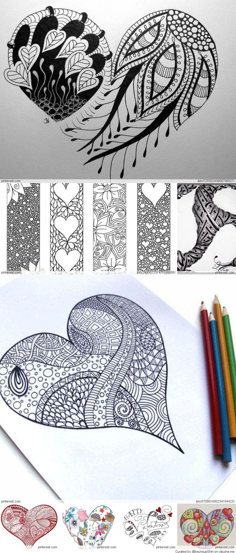 Zentangle Valentine S Day Ideas Zentangles Hearts In 2018