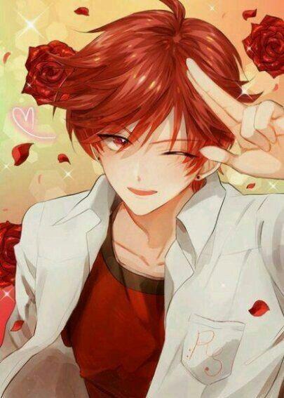 Hay Voy Espera Ue Ya Te Robo El Corazon Red Hair Anime Guy Anime Red Hair Cute Anime Guys