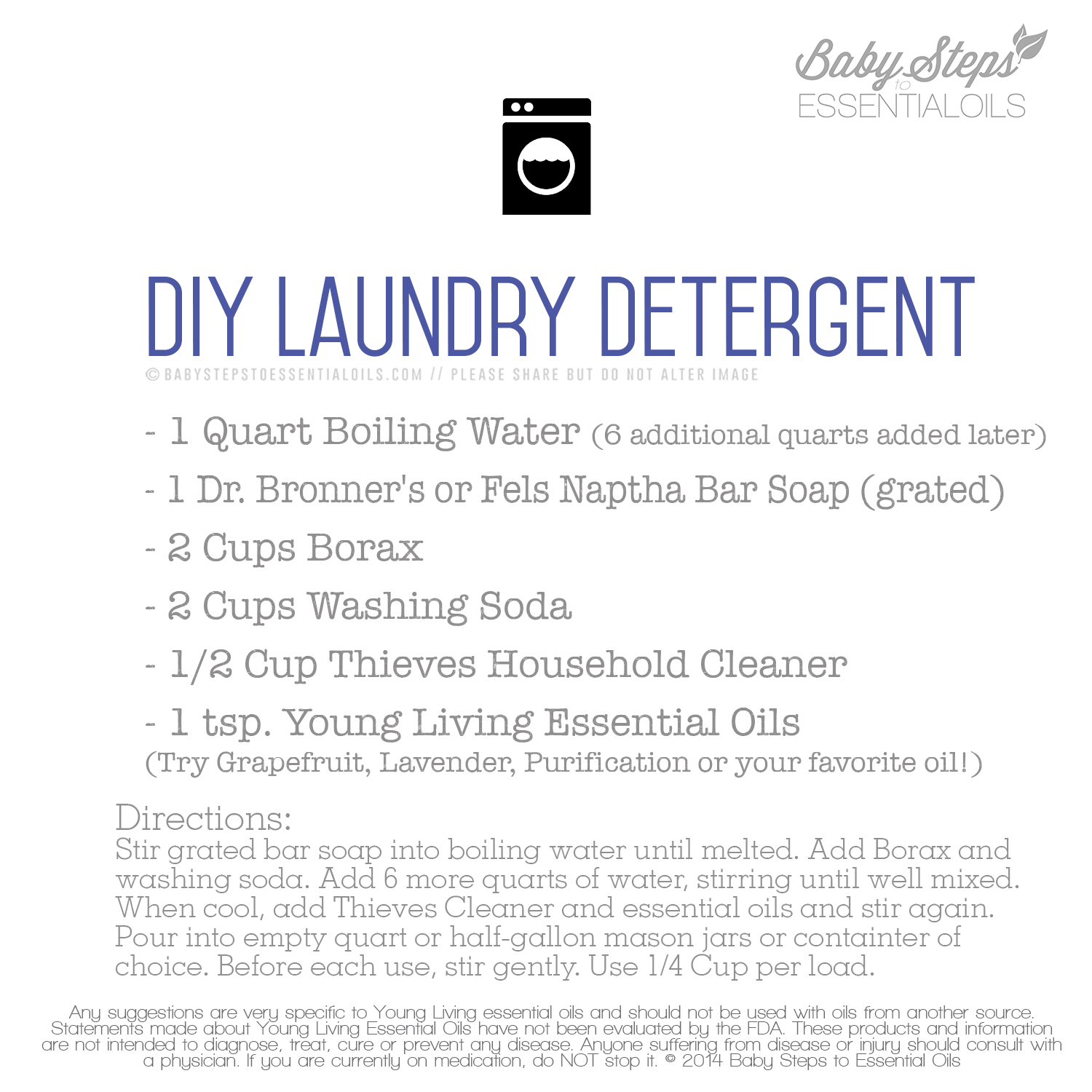 Diy laundry detergent recipe with thieves household cleaner diy laundry detergent recipe with thieves household cleaner solutioingenieria Images