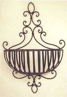 Half Basket Wall Planter Half Basket Wall Planter Metal Wall