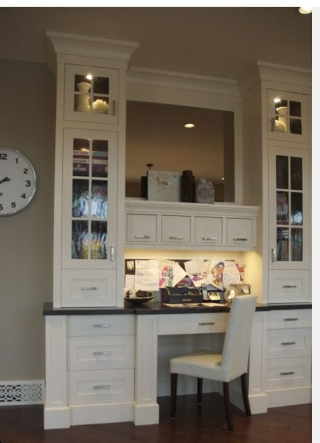 22 Built In Home Office Designs Maximizing Small Spaces Home Home Office Design Built In Desk