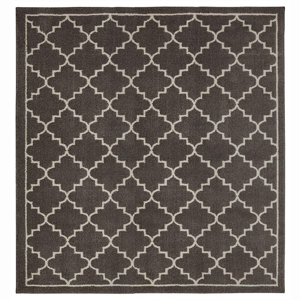 Winslow Walnut Brown 8 Ft X Square Area Rug