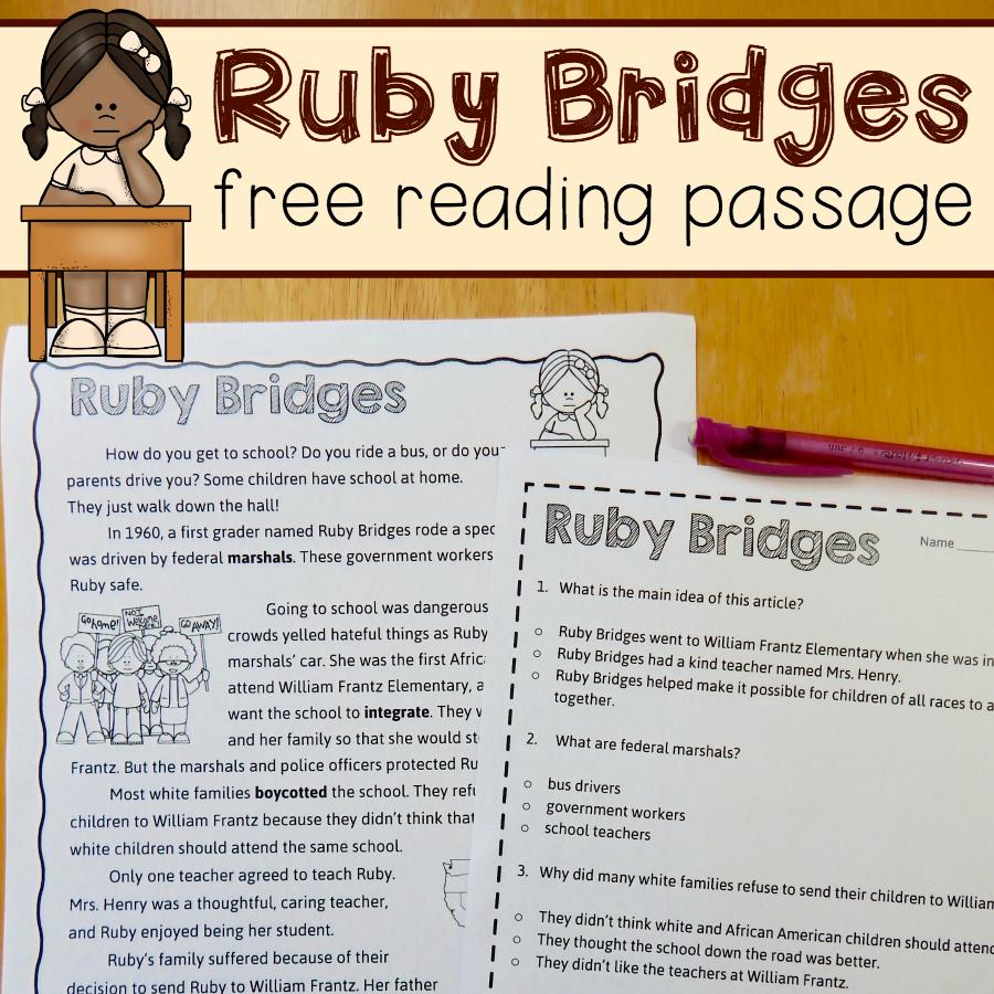26++ Ruby bridges worksheets Free Download