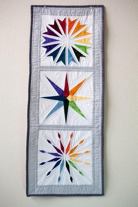 Rainbow Star - Paper Piecing | Rainbow star, Hanging quilts and ... : wall hanging quilt patterns - Adamdwight.com