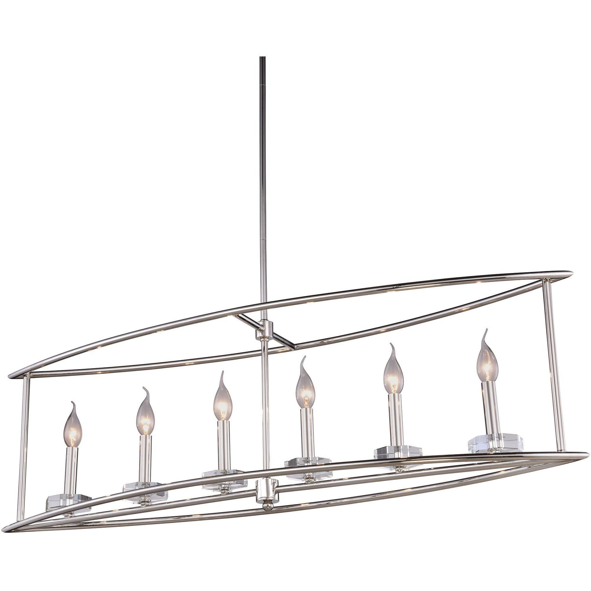 Bjorn 44 L Chandelier Polished Nickel Clear Crystal