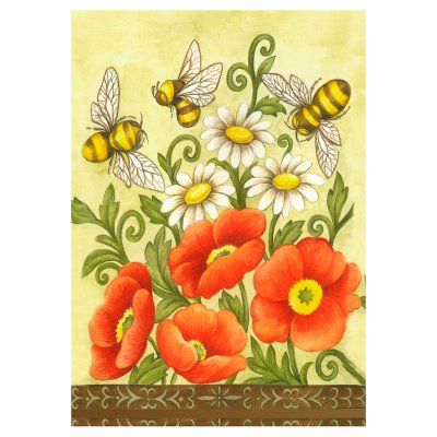 Toland Home Garden Bees And Wildflowers Flag 118340 Small
