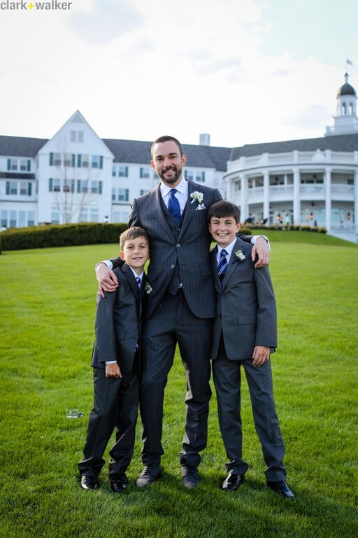 The groom with his sons! #kids #children #sons #wedding #DebbieMcNairyWeddings #clarkandwalkerphotography