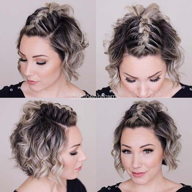 23 Quick And Easy Braids For Short Hair Page 2 Of 2 Stayglam Cute Hairstyles For Short Hair Short Hair Mohawk Hair Styles