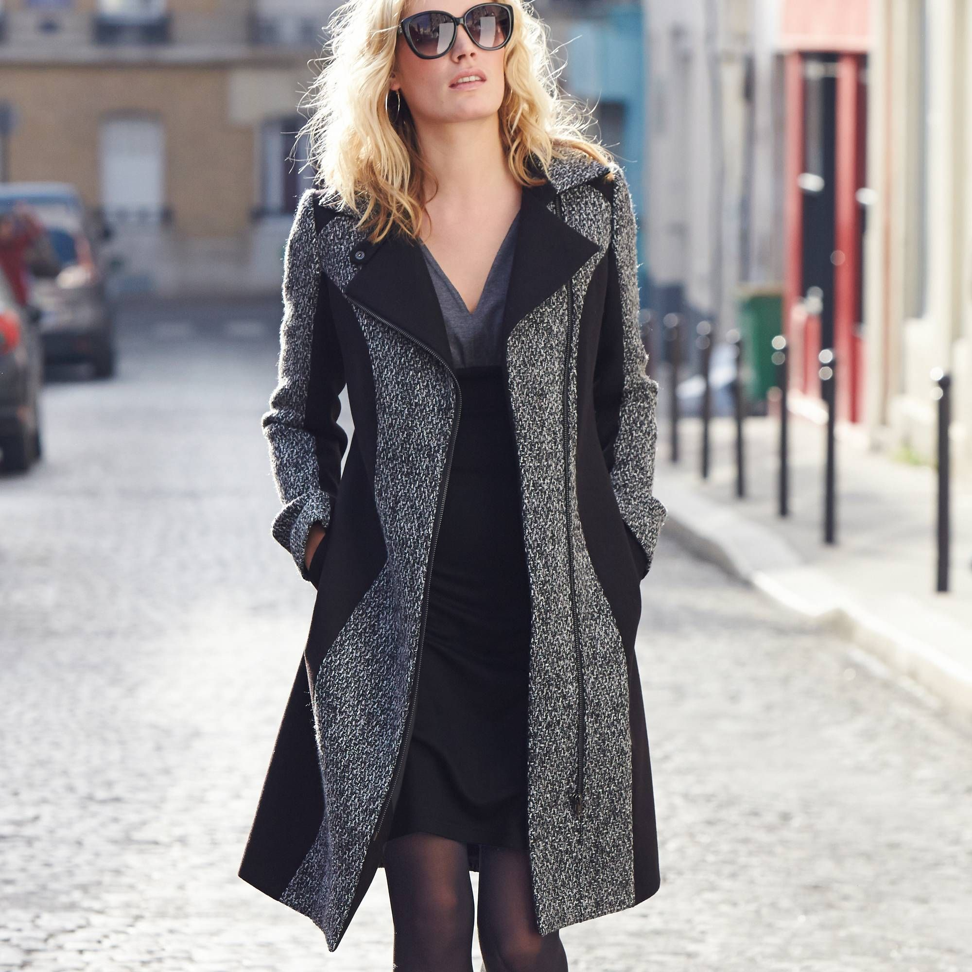 manteau femme votre mode 3 suisses coat pinterest. Black Bedroom Furniture Sets. Home Design Ideas