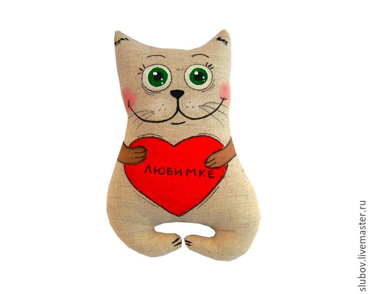 Купить Котик с сердечком. Подарок для влюбленных на День ...