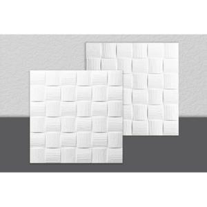 Decosa Dalle De Plafond Dublin Polystyrene Blanc 50 X 50 Cm Lot De 2 Sachets 4m2 Achat Vente Poutre D Dalle De Plafond Plafond Decoration Plafond