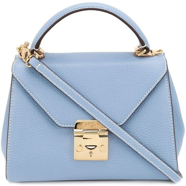 Mark Cross baby 'Hadley' flap bag (68 770 UAH) ❤ liked on Polyvore featuring bags, handbags, purses, blue, genuine leather handbags, leather handbags, blue leather purse, handbags purses and flap bags