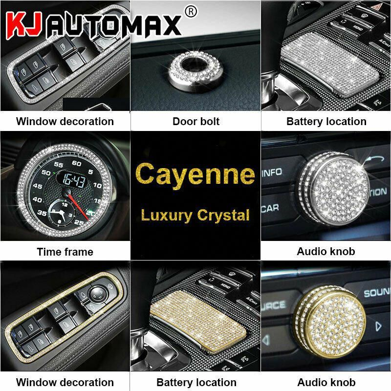 Sponsored Ebay For Porsche Cayenne Crystal Decoration Car Styling