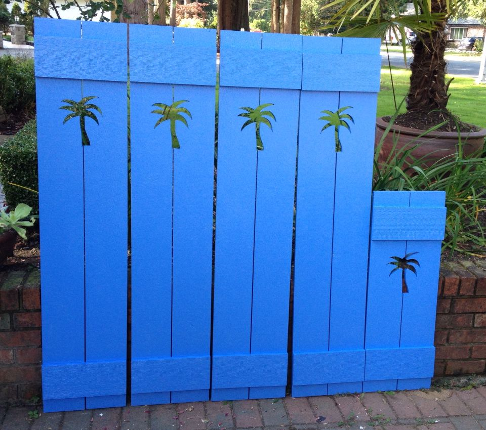 Palm Tree Cutout Shutters Made To Order By Castawayshall
