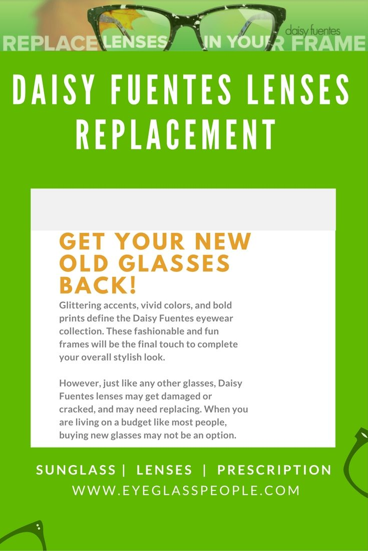 c2f9d3ce42a The best thing about getting your Daisy Fuentes lenses from  EyeGlassPeople.com is the convenience. You don t have to spend so much  money and time on driving ...