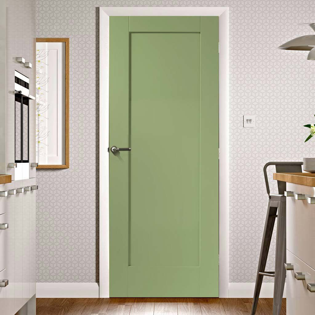 Prefinished Pattern 10 Oak 1 Panel Door Choose Your Colour Panel Doors Door Fittings Oak Doors