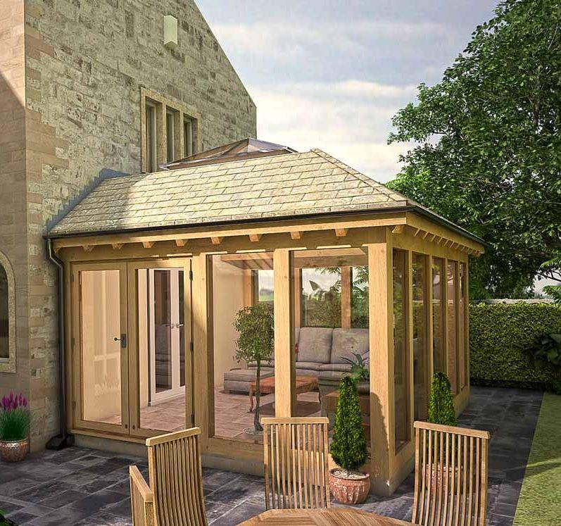 House With Porch, Garden Room