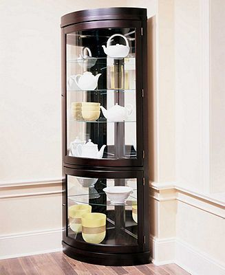 1000 Images About Curio Cabinets On Pinterest Curved Glass Dapur