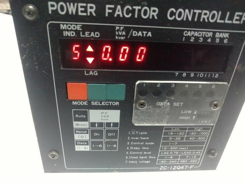 Zc 12q47a National Power Factor Controller 12 Banks Matsushita Electric National Power Electricity Factors