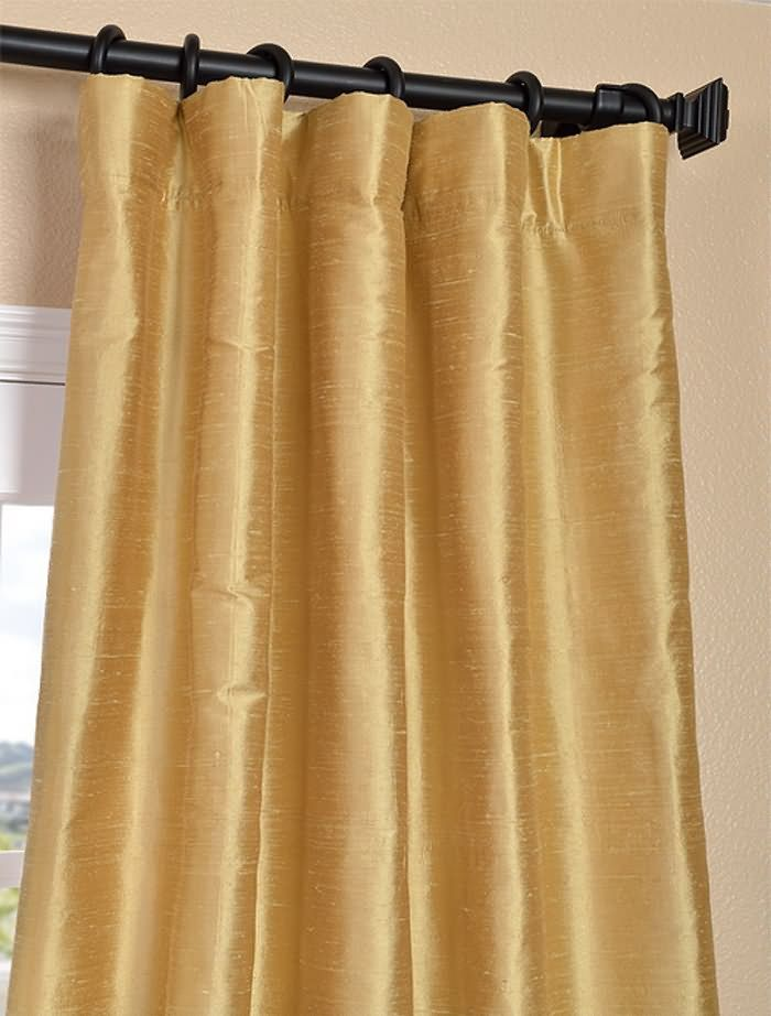Pale Gold Silk Draperies Half Price Drapes Silk Curtains Curtains