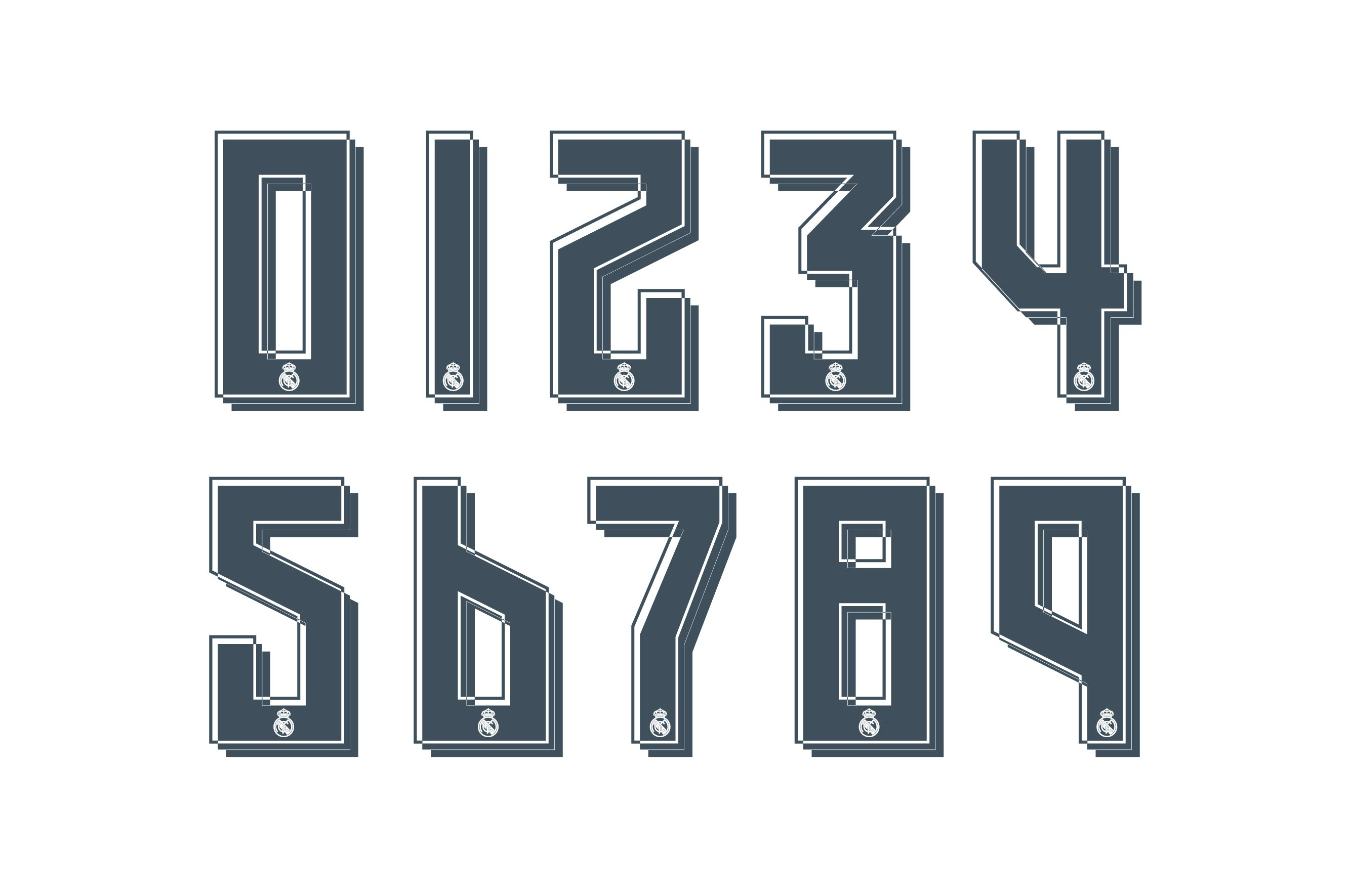 Modern Number Fonts Zion Star