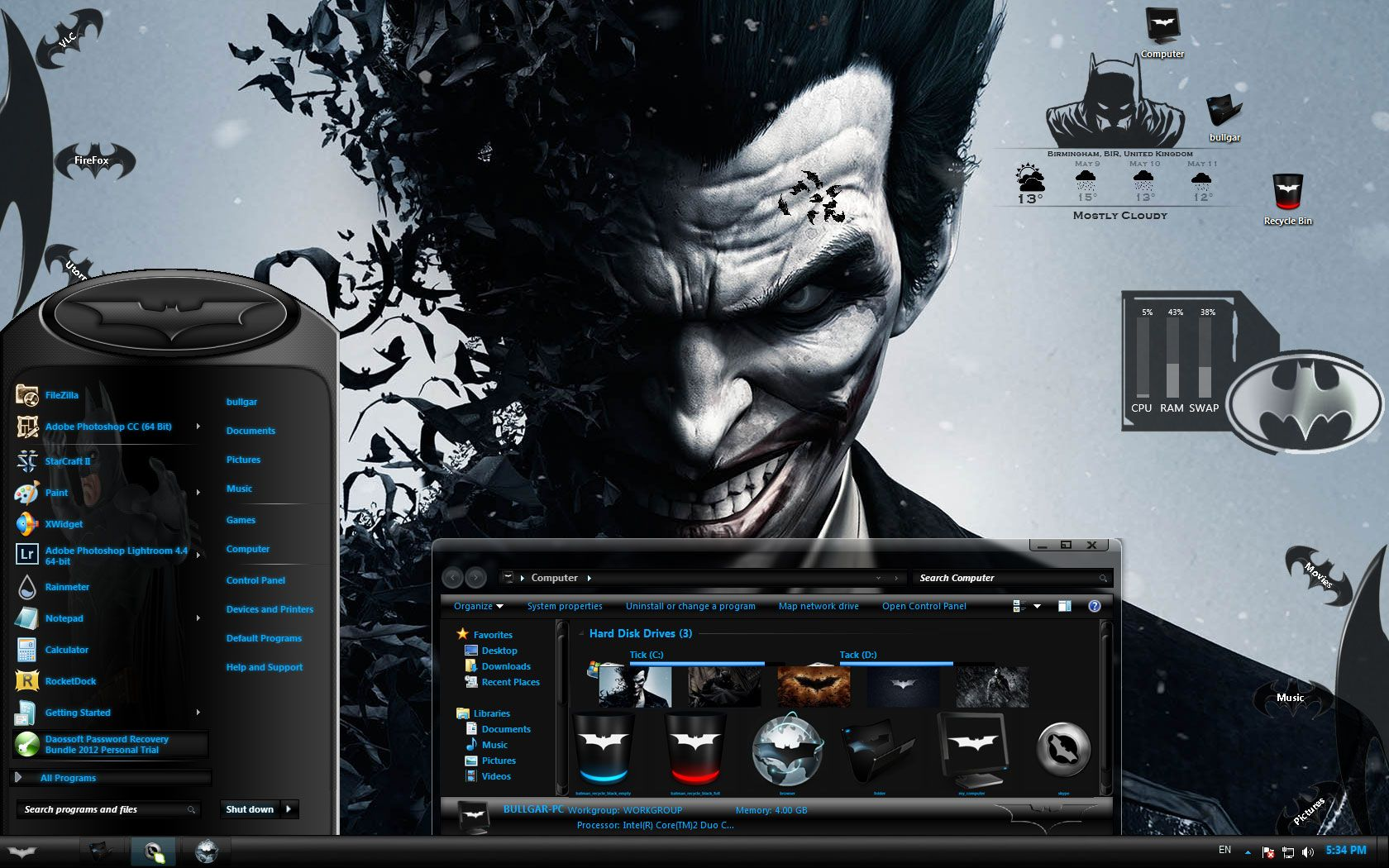 Why so serious? This is the best Batman Custom theme for