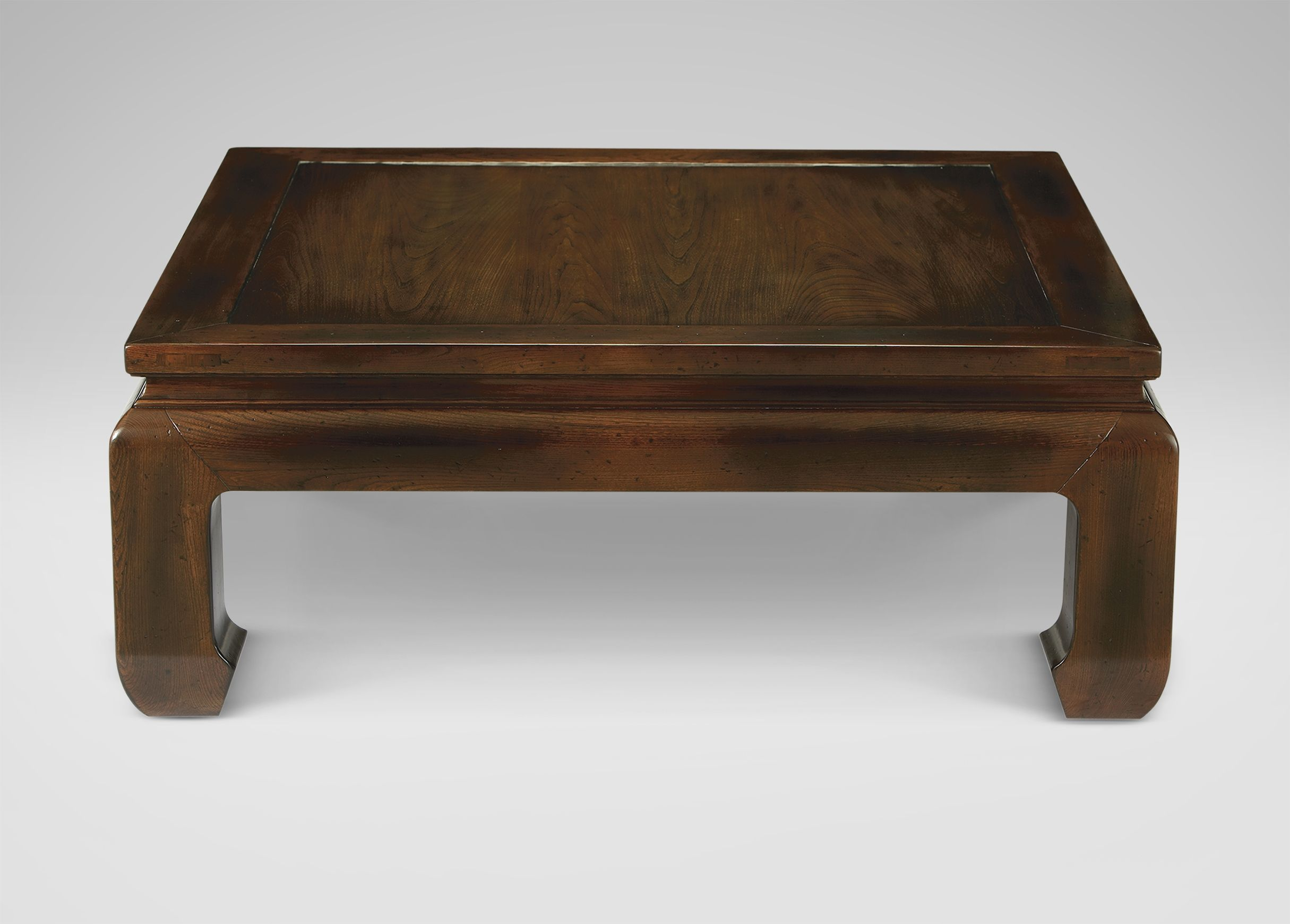 Ethan Allen Square Coffee Table With Drawers
