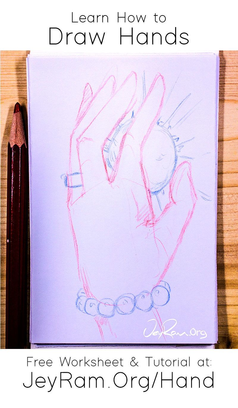 How To Draw Hands Free Worksheet Tutorial In 2020 How To Draw Hands Free Hand Drawing Drawings