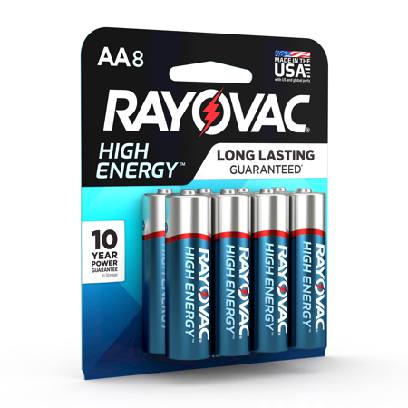 Rayovac High Energy Aa 1 5v Alkaline Batteries 8 Count Walmart Com High Energy Alkaline Battery Batteries