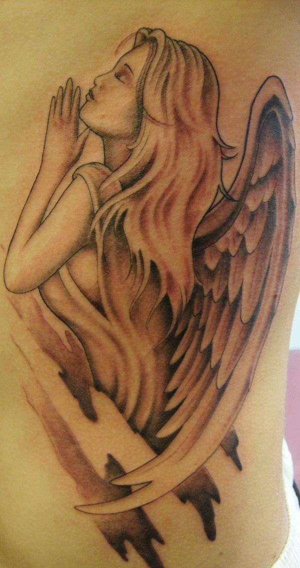 Guardian Angel tattoo | Rzeżba ceramiczna | Pinterest ...