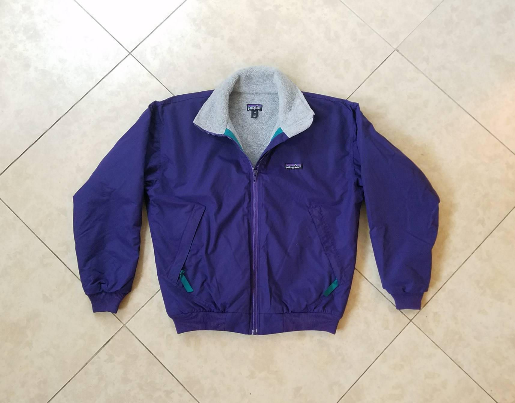 Vintage womenus medium large patagania outerwear fitted purple