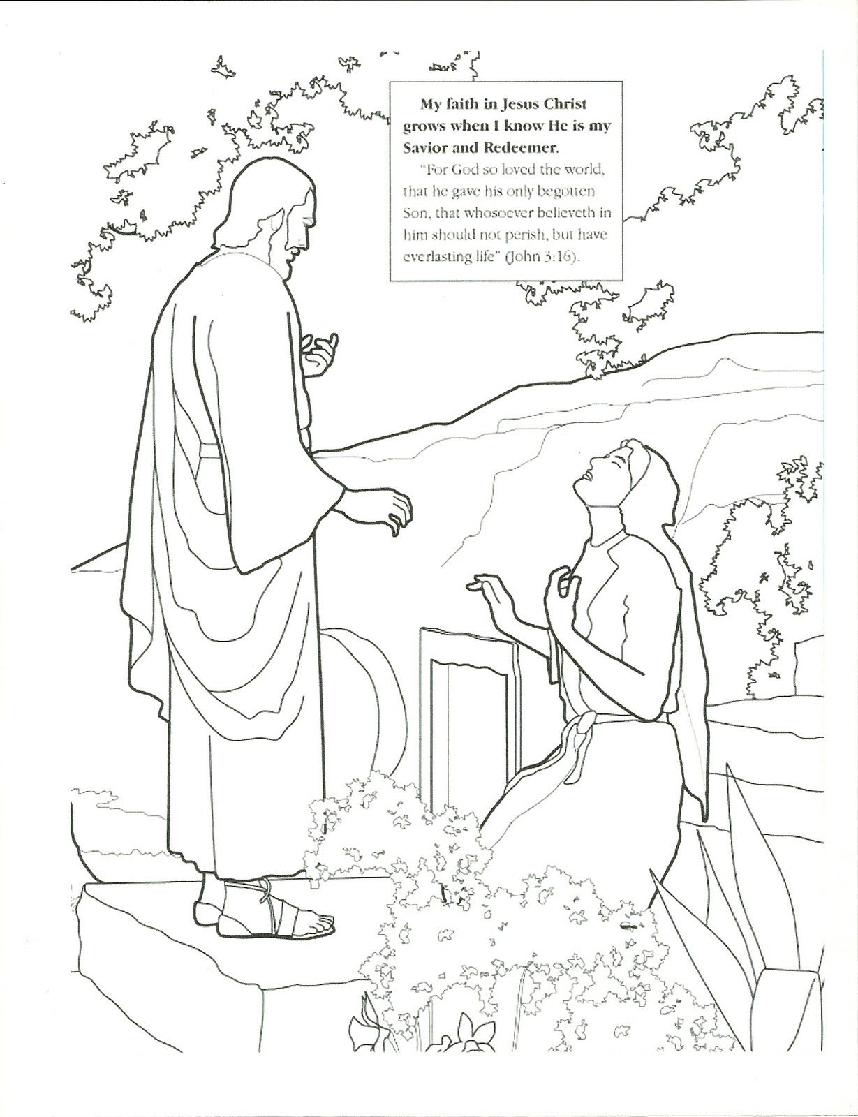 Primary 2 Lesson 45 Easter Lds Coloring Pages Easter Lessons
