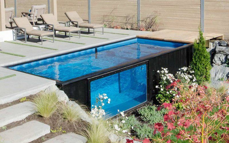 Pool mit Containern gebautContainer haus | Container haus | House ...