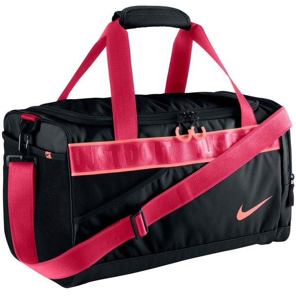 9bbfbf6b60e96b Nike Varsity Duffel (225 ILS) ❤ liked on Polyvore featuring bags, luggage,  accessories sport, black, sports fashion and womens-fashion