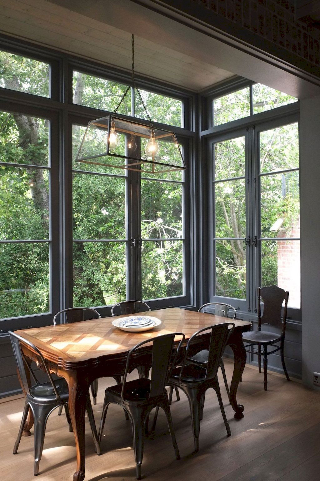 Dining nook conservatory feel darks and wood garden view greenery room witha  also home decor outlets beautiful patio inspiration voguehem in rh pinterest