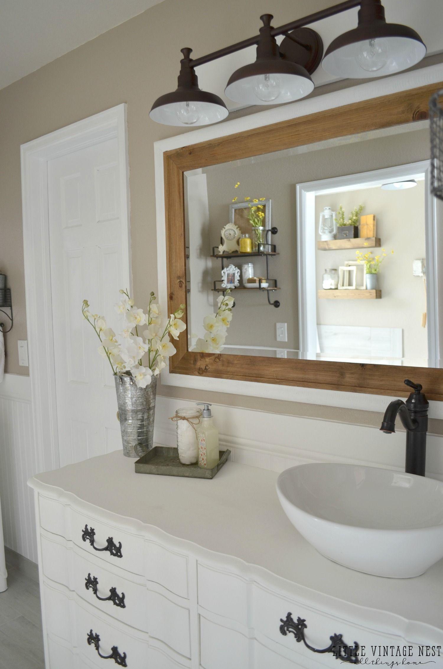 Vintage Farmhouse Master Bathroom With Images Bathroom Remodel
