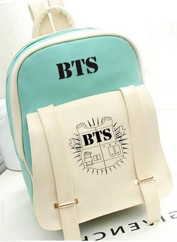 BTS Bangtan Boys Leather Backpack